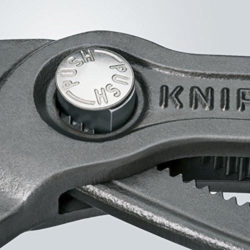 Knipex Cobra – Hochleistungs-Wasserpumpenzange mit Schnelleinstellung und schlanken Mehrkomponenten-Griffhüllen, 250 mm, Rohre bis 50 mm - 4