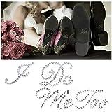 JUSTDOLIFE 2 Sheets Shoe Sticker Decor Rhinestone Shoe Decal for Bride