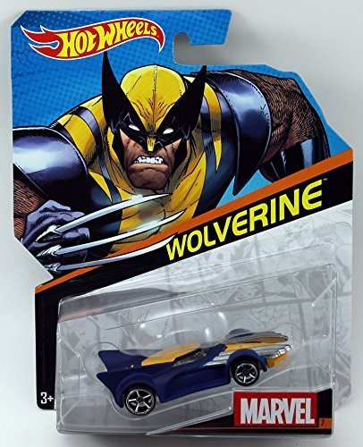 Hot-Wheels-Marvel-Character-Car-Wolverine-7-164-Scale-by-Mattel