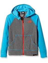 North Face Glacier Full Zip - Chaqueta de forro polar para niño, color gris / azul, talla XL