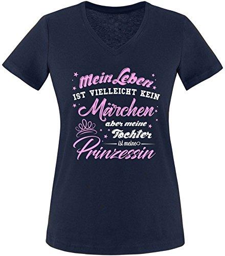 ist Vielleicht Kein Märchen aber Meine Tochter ist eine Prinzessin Damen T-Shirt V-Neck (Pärchen Märchen Kostüme)