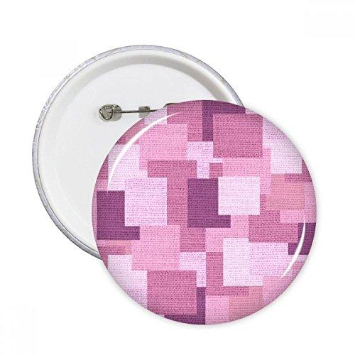 DIYthinker Stoff Flachs Knit Lila Quadrat Abstrakte Mosaik Runde Stifte Abzeichen-Knopf Kleidung Dekoration Geschenk 5pcs Mehrfarbig XL -