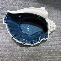 TYAW-SHOP Cenicero de cerámica Conch Azul artesanías Creativas Hotel decoración Ornamento Regalo, C