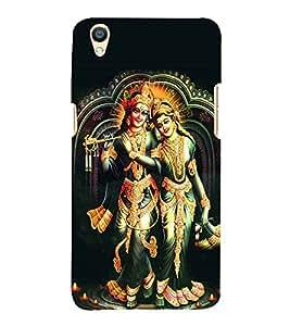 Fiobs love sri krishna radha maa flute hindu god religious mahavishnu Designer Back Case Cover for Oppo F1 Plus :: Oppo R9