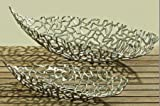 Deko-Schale Fidan silber Aluminium (44cm oval)