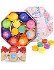 BMK Bath Bombs Gift Set, 8 Bath Fizzies U0026 6 Candles, Handmade Natural  Organic