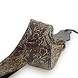 Mugig Gitarrengurt einstellbare Länge 95-157cm Tragegurt aus PU Leder für Konzertgitarre Westerngitarre E-Gitarre und Bass