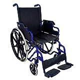Sedia a rotelle pieghevole | Carrozzina ad autospinta | Seduta: 43 cm | Colore blu | Modello Giralda | Mobiclinic