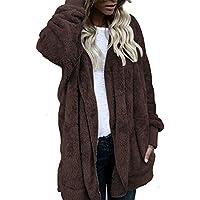 Damen Winterjacke Wintermantel Lange Parka Jacke Kapuzenjacke Outwear Frauen Winter Warm Steppjacke Mantel Oberbekleidung Strickjacke Trenchcoat