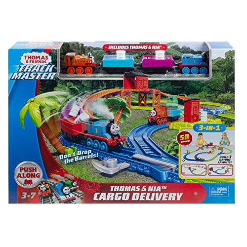 Thomas & Friends GLL14 Trackmaster Thomas & Nia Cargo Delivery Playset, Multicolore