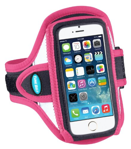 Schwarz / Rosa Tunebelt AB87 Sport Armbinde für Apple iPhone 5/5s/5c & Apple iPod Touch 5th Generation