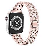 Wawer Milanais Bracelet pour Apple Watch Series 4,Femme Bracelet en Métal en Acier Inoxydable avec...