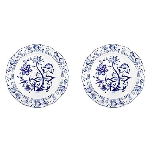 Triptis 1350380670024116 'Romantika Zwiebelmuster' Speiseteller, Ø 23,5 cm, Porzellan, weiß/blau...