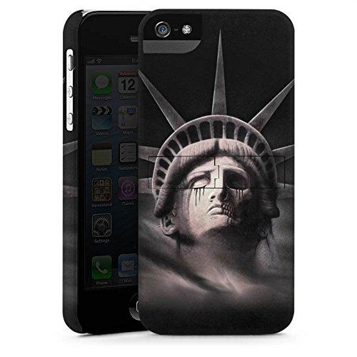 Apple iPhone X Silikon Hülle Case Schutzhülle Freiheitsstatue Miss Liberty Schwarz Premium Case StandUp