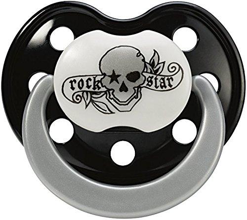 o Pirate Schnuller schwarz/grau/weiß (Pirate Rock)
