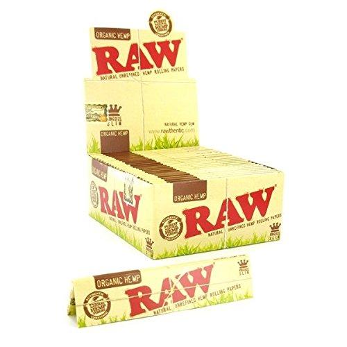 Raw Rolling Paper- Organic Hemp King Size Slim 50 Books