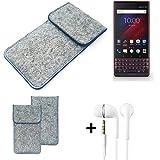 K-S-Trade® Protective Felt Case For Blackberry Key 2 LE