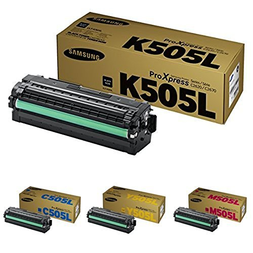 Preisvergleich Produktbild CLT-K505L/ELS Samsung Original Toner Schwarz/Cyan/Gelb/Magenta - Kompatibel mit: SL-C2620DW | C2670FW | C2680FX