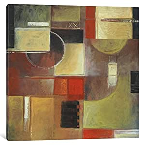 iCanvasART 1-Piece Retro in Red III Canvas Print by Pablo Esteban, 1.5 by 26 by 26-Inch