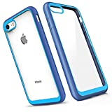 Slynmax Coque iPhone 8 Bleu Coque iPhone 7 Housse Luxe Transparente Souple Fine TPU...