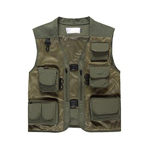 semen Outdoor Weste Safari praktischen Reißverschluss Multi-Tasche Netz Breathable Camping Jagd Fischen Fotografie Front Zip Windbreaker Jacke