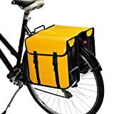 BikyBag® Waterproof Classic Double Pannier Bag Bicycle Cycle Bike Shopping (Yellow)