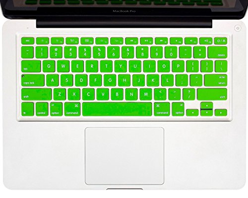 """Heartly Premium Soft Silicone Keyboard Skin Crystal Guard Protector Cover For MacBook Air 11"""" inch Great Green"""