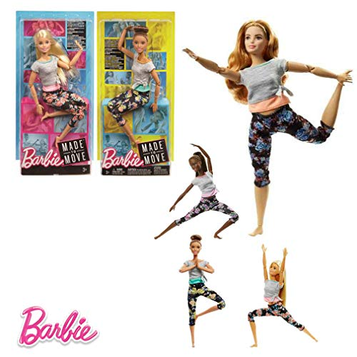 Barbie-bambola movimento senza límites30cm, multicolore (mattel ftg80)