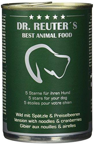 Dr. Reuter's Hundefutter Wild mit Spätzle und Preiselbeeren, 6er Pack (6 x 400 g)