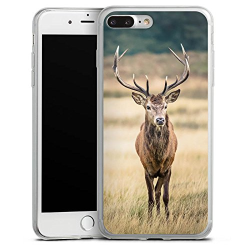 Apple iPhone 8 Slim Case Silikon Hülle Schutzhülle Hirsch Wald Tier Silikon Slim Case transparent