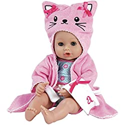 "Adora Bathtime Baby Kitty 13"" Soft Body Play Doll for Children Open/Closing, Ages 1+"