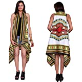 White African Floral Printed Shrugs Cardigan Coat Bikini Cover Up Cotton Dashiki Open Jacket Dress Cover Up Top For Women's / Girl's