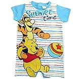 Winnie the Pooh und Tigger Kollektion 2018 Strampelanzug 56 62 68 74 80 86 Jungen Strampler Einteiler Sommer Neu Baby bis Kleinkind (Blau, 68 - 74)