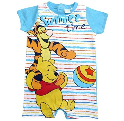 Winnie the Pooh und Tigger Kollektion 2018 Strampelanzug 56 62 68 74 80 86 Jungen Strampler Einteiler Sommer Neu Baby bis Kleinkind (Blau, 62 - 68)