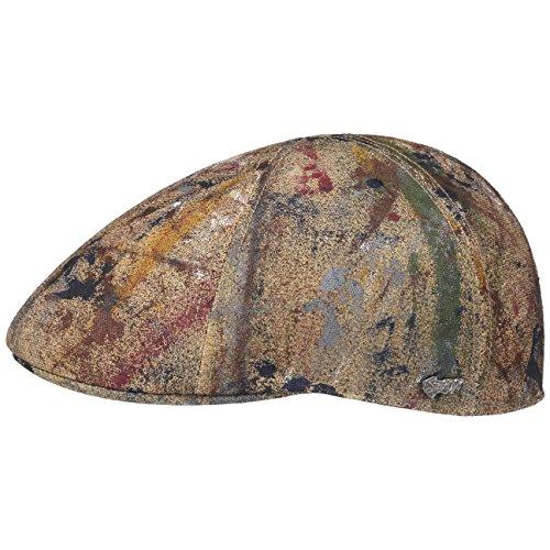 texas-splashes-flat-cap-stetson-cotton-cap-ivy-hat-xl-60-61-mixed-colours