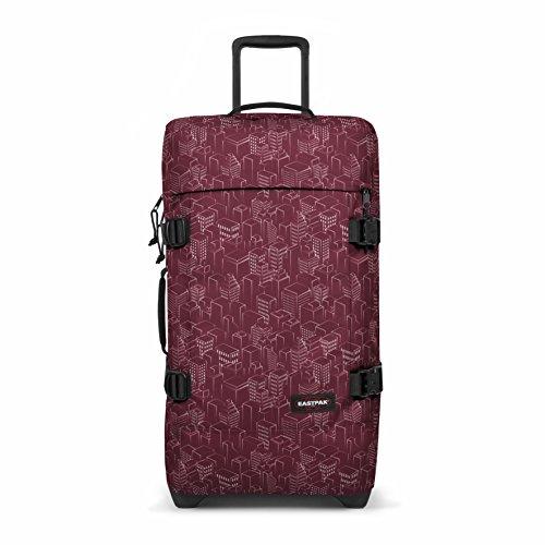 Eastpak TRANVERZ M Bagage cabine, 67 cm, 80 liters, Rouge (Merlot Blocks)