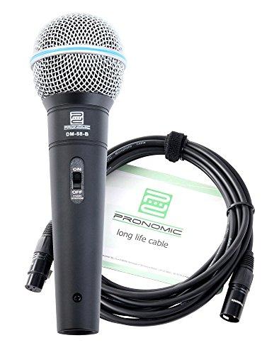 Pronomic DM-58-B Vocal Mikrofon mit Schalter inkl.