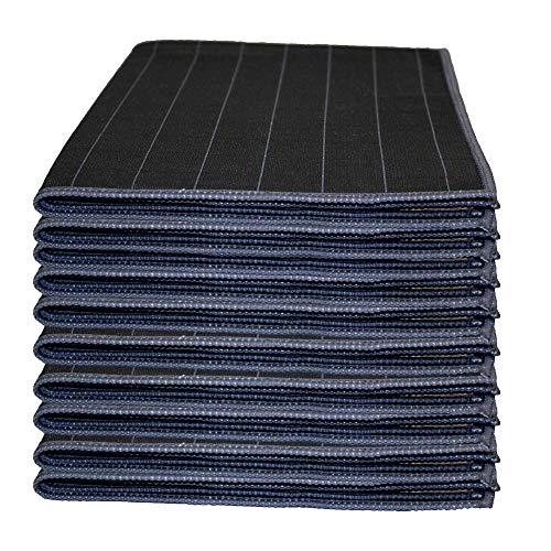 Muxel Bambus Carbon Tuch Glaspoliertuch Streifenfrei Fenstertuch Mikrofasertuch Set 10 Teilig