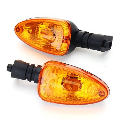 JenNiFer Coppia Indicatori Di Direzione Lampeggiante Indicatore Anteriore Anteriore Per Bmw F800 F650 Gs S1000R - Giallo