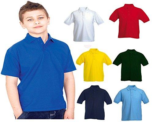 Childrens-Polo-Shirt-Pique-School-PE-Uniform-Premium-Kids-T-Shirt