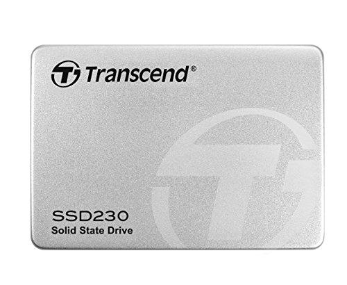 Transcend SSD230S 128 GB interne SSD (6,4 cm (2,5 Zoll), SATA III, 3D NAND, mit Aluminium-Gehäuse) silber