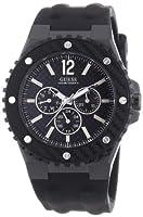 Reloj Guess W11619G1 de cuarzo para hombre con correa de caucho, color negro de Guess