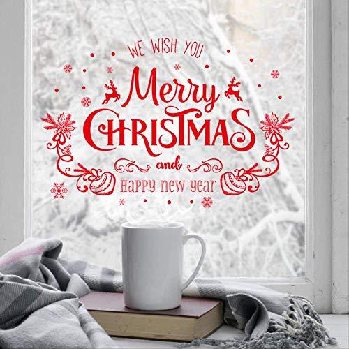 Weihnachtsdekoration Shop Fenster Glastür und Fenster Wandtattoos können entfernt werden