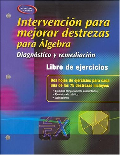Skills Intervention for Algebra: Diagnosis and Remediation, Spanish Student Workbook (Merrill Algebra 1) por Mcgraw-Hill Education