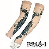 tzxdbh Desert Jungle Camouflage Tattoo Manica in Ghiaccio Alta qualità Real Ice Silk Protezione Solare Manica per Tatuaggio Braccio Dritto Circonferenza Braccio 17-50 cm Disponibile