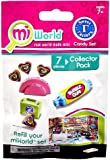 MiWorld Collector Pack Sweet Factory Candy Set 7 Piece Set [1 Candy Stand, 4 Lollipops, 1 Lunch Box & 1 Bubble Gum] by Jakks
