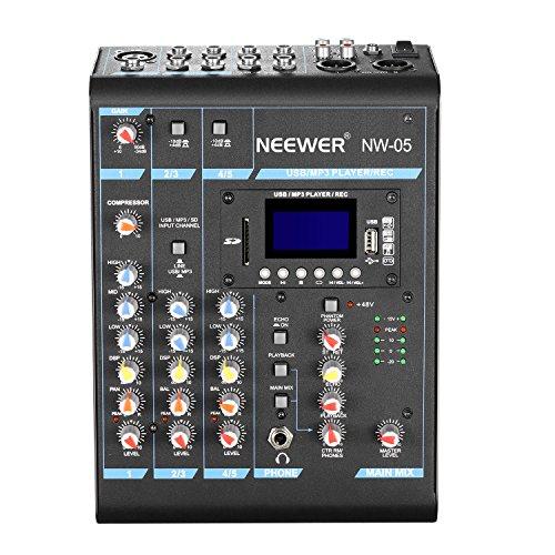Neewer Mixer Console Stereo Compatto 5 Canali Effetti usato  Spedito ovunque in Italia