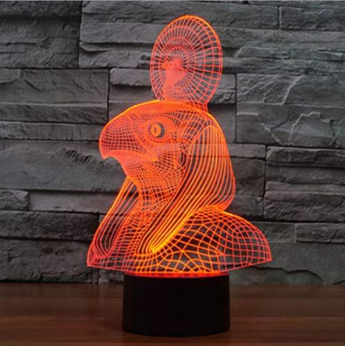 Illusion Lampe Nachtlicht 3D optische Täuschung Lampe Coole Pharao Escort Tisch 7 Farben Ändern Schreibtisch Neuheit Led er Led Licht Dropship (Escort Smart)