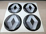 3M Nabenkappen, 60mm, Tuning mit 3D-Effekt, geharzt, Nieten Sticker Aufkleber für Leichtmetallfelgen, 4Stück
