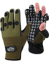 grün schwarz Größe M Cormoran Neopren Handschuhe
